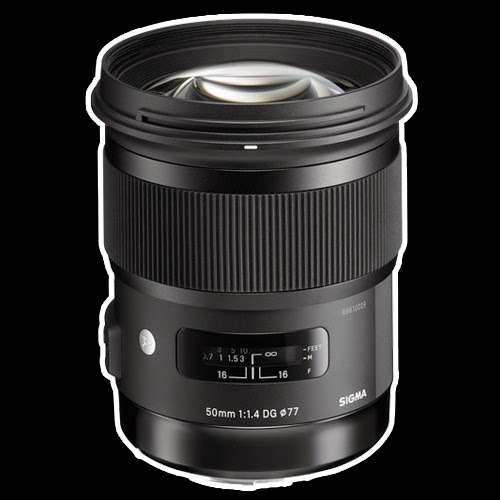 sigma lens product shot