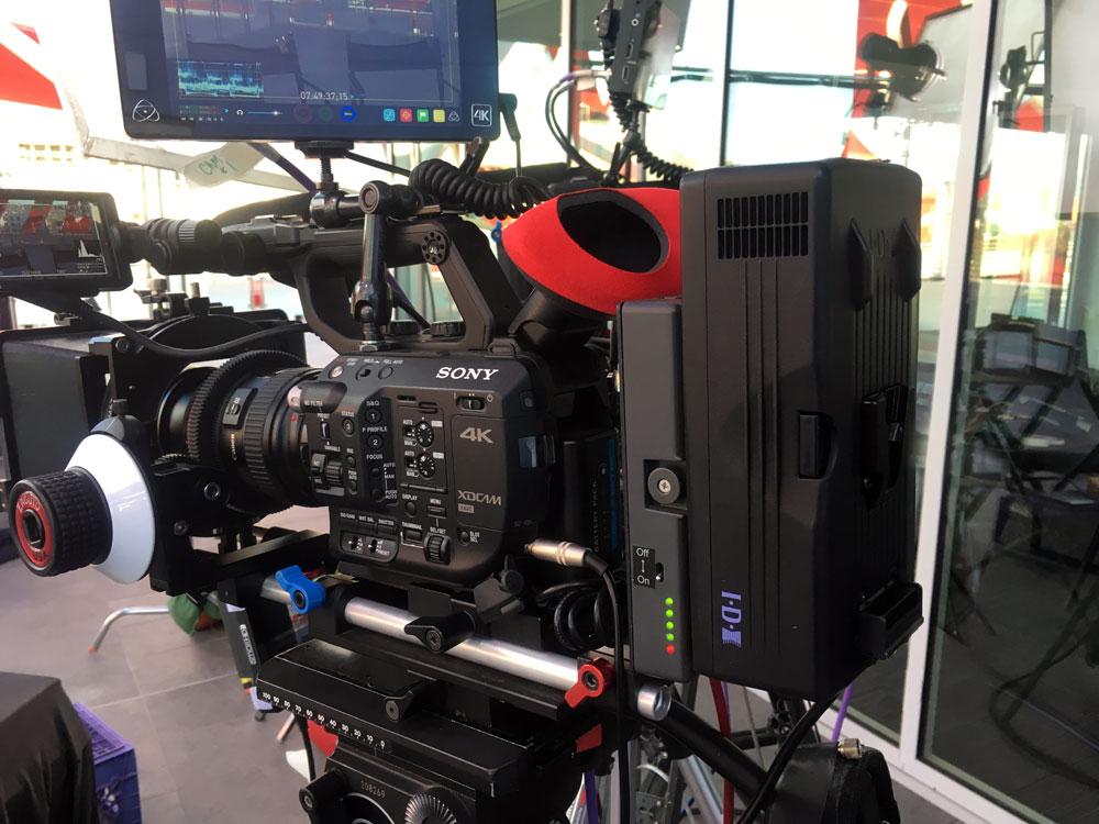 Sony Fs-5 rig with IDX power adapter