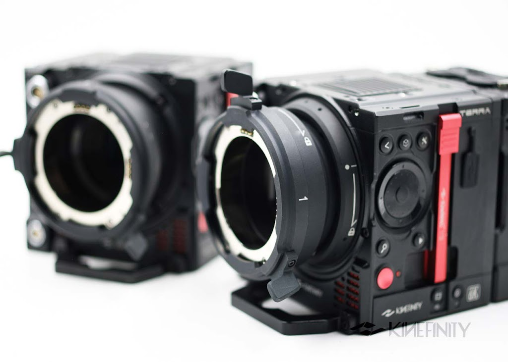 Product shot of Kinefinity Terra 6K camera mounts